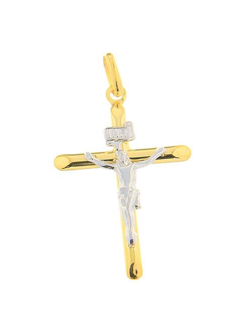 croix bicolore pendentif