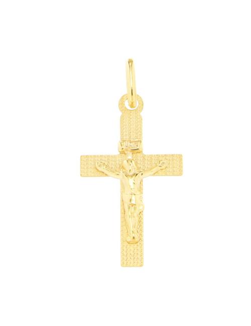 jesus croix pendentif or jaune
