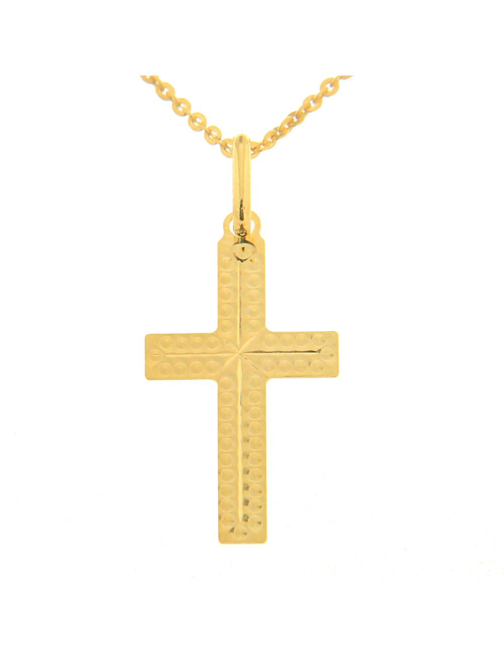 croix pendentif or