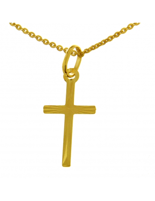 pendentif croix or