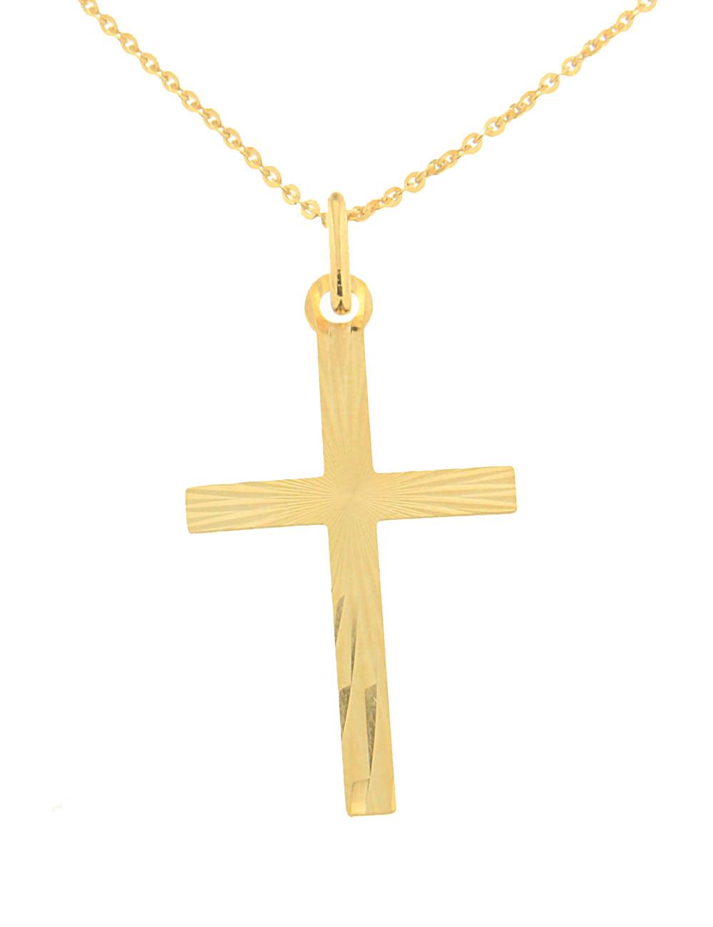 pendentif croix mixte