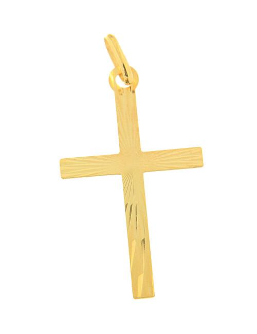 croix pendentif or jaune