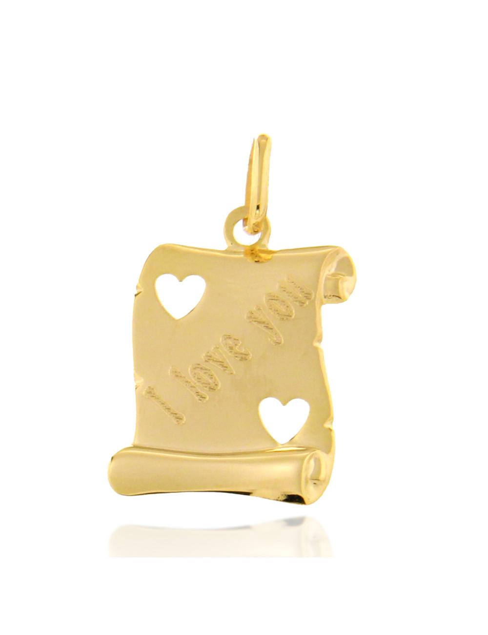 femme pendentif cadeau or jaune