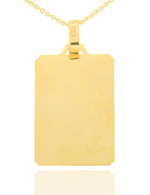 plaque 9 carats pendentif