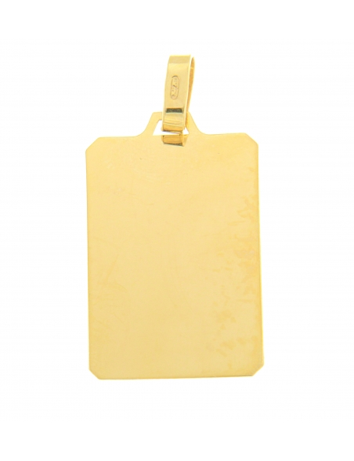 pendentif plaque or jaune