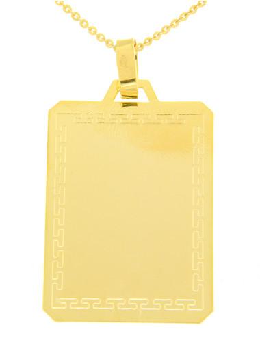 plaque pendentif mixte