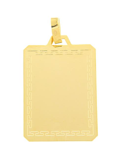 pendentif or jaune plaque