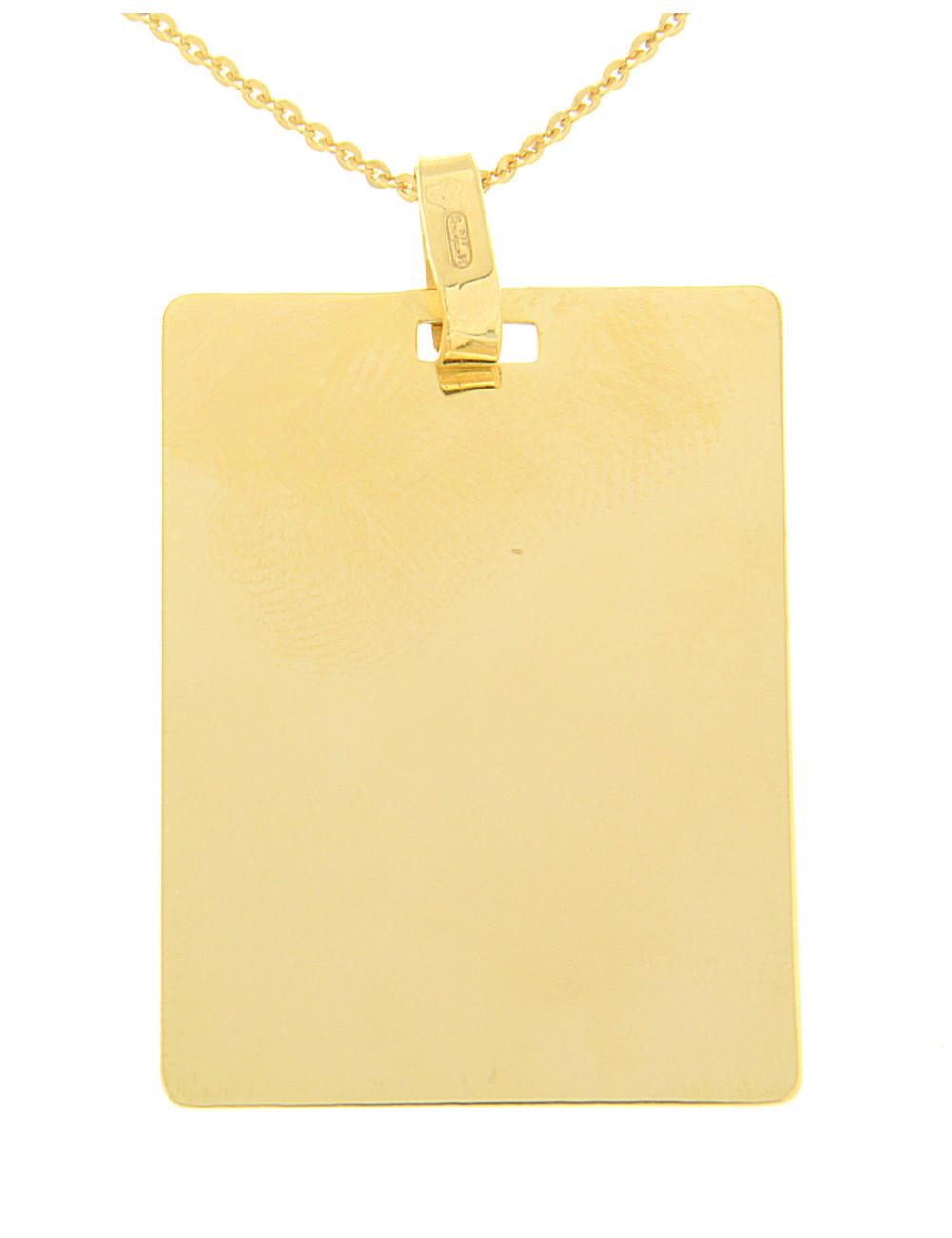 pendentif mixte or plaque