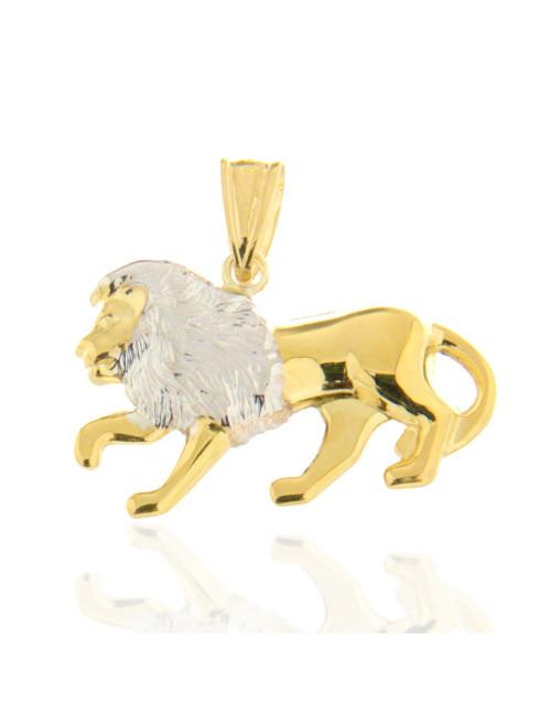 lion pendentif or