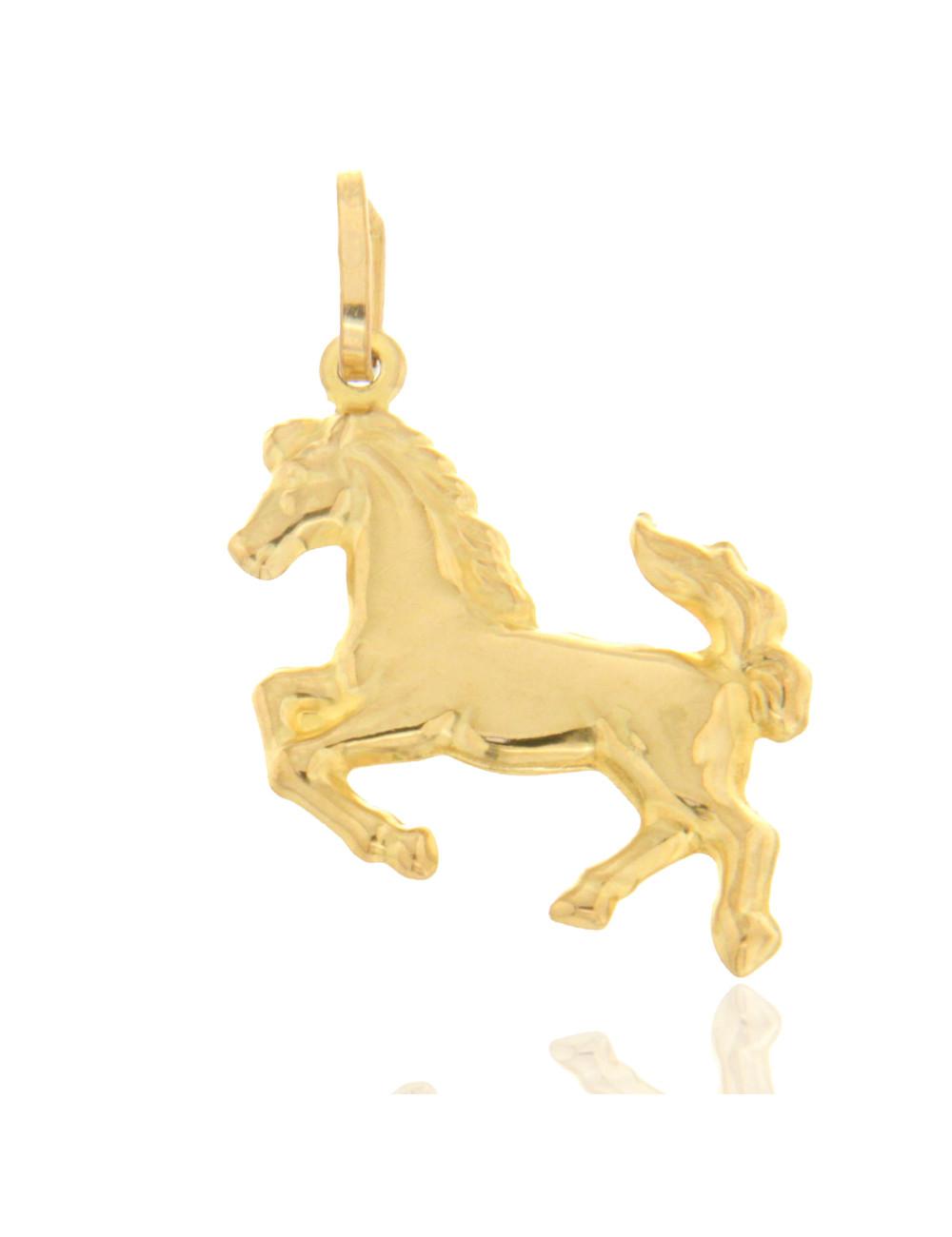 pendentif chevale or jaune homme