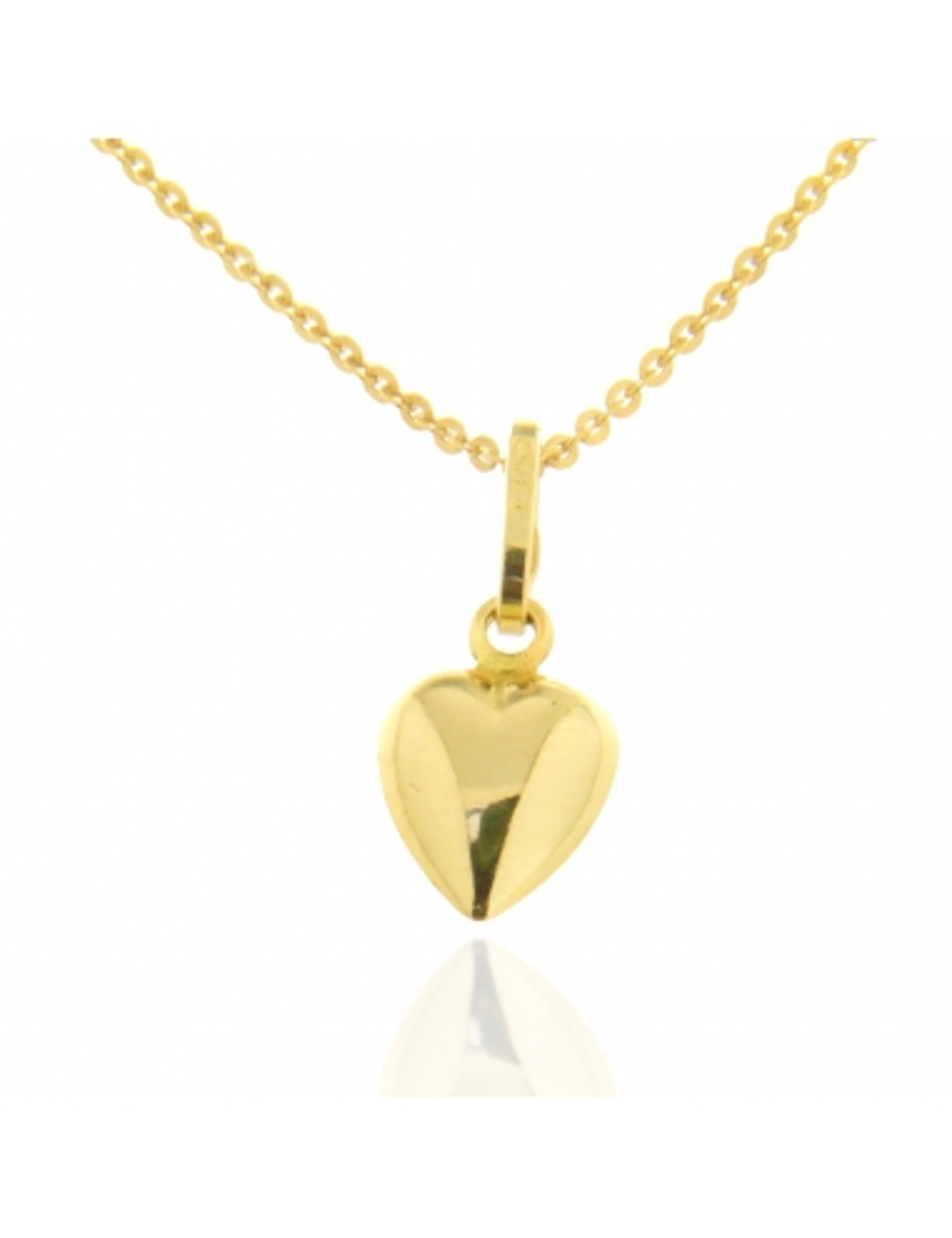 petit pendentif coeur plein or jaune