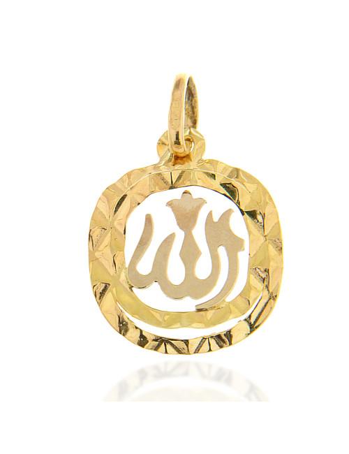 pendentif carrée arrondi Allah