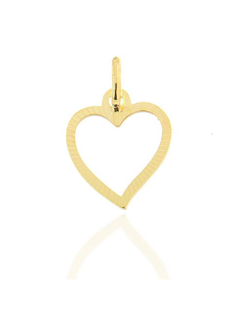 pendentif coeur romantique or jaune