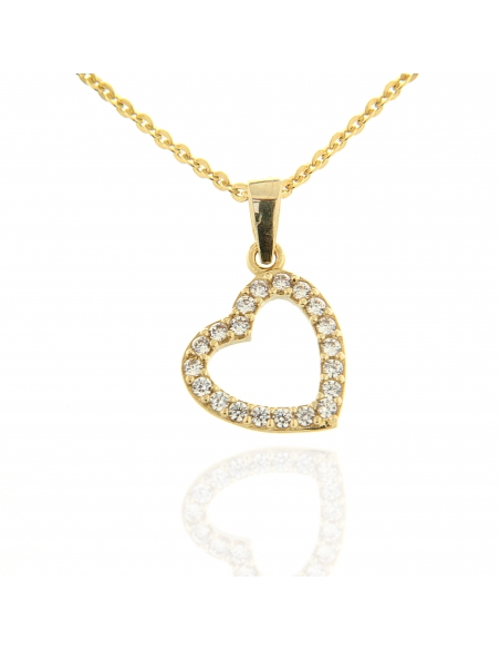 pendentifs petit coeur or jaune