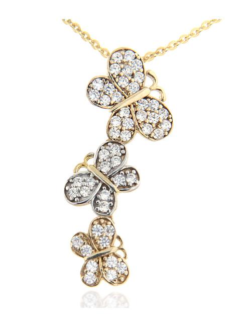 Pendentif Papillon bijoux pas cher