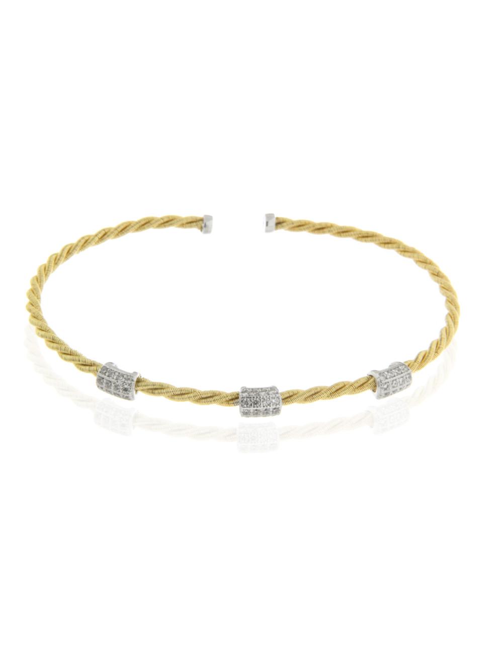 bracelet argent zirconium 925/1000 bijoux