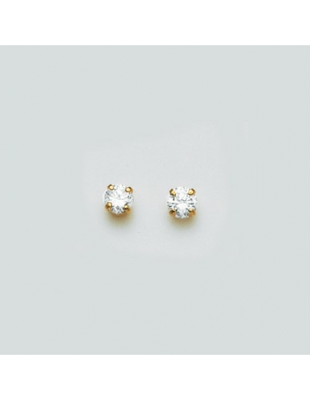 "Boucle d'Oreille ""Puce"" Or 18 carats"